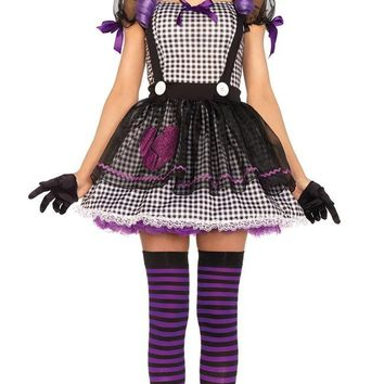 Cool Barbie Voodoo Doll Costume Women Adult Clown Circus Cosplay Carnival Halloween Costumes For WomenAT_93_12