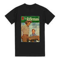 Chuck Connors is The Rifleman Sporting Wood - TV T-shirt - Dark
