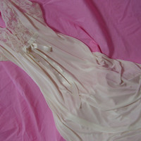 Ivory Long Nightgown Bridal Honeymoon Lingerie