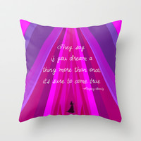 Sleeping Beauty Throw Pillow by Burlap and Bourbon