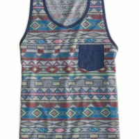 AEO Men's Bold Graphic Tank (Derby Grey Heather)