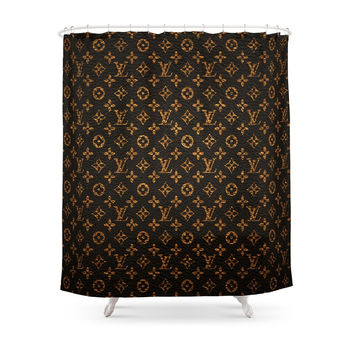 Society6 LV Pattern Shower Curtain