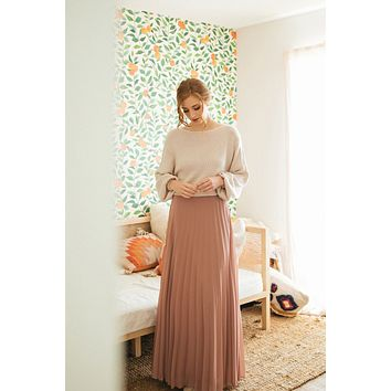 Petite Simone Pleated Maxi Skirt