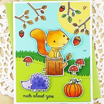 Hedgehog Squirrel Friend Clear Stamps Seal for Scrapbooking Decorative Paper Cards Making Crafts Supplies Transparent Stamp 2018