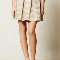 Flickered Tweed Skirt by Paper Crown Neutral Motif