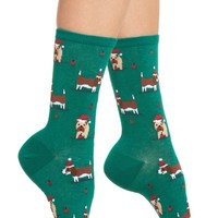 Hot Sox Christmas Doggies Crew Socks | Nordstrom