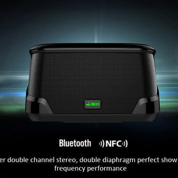 MD-5115 Compact Block Smart Bluetooth Speaker with NFC Function Support iPhone iPod iPad Samsung HTC N