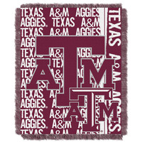Texas A&M Aggies NCAA Triple Woven Jacquard Throw (Double Play Series) (48x60)