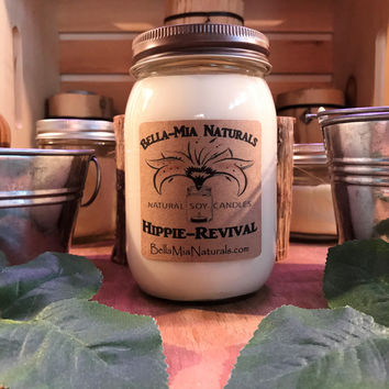 Hippie-Revival Natural Hand Poured Soy Candles & Melts