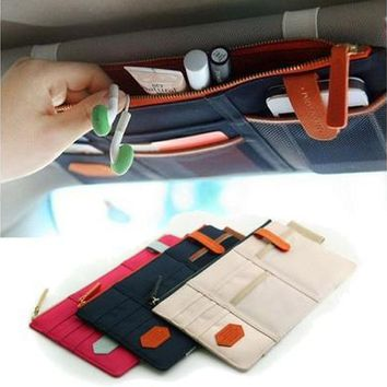 Sun Visor Point Pocket Organizer Pouch Bag Pocket Card Storage Holder