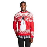Men's Frosty Cheers Ugly Christmas Sweater Red -... : Target