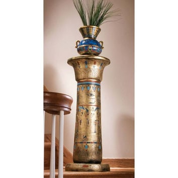 Park Avenue Collection Golden Pedestal Of The Egyptian Kings