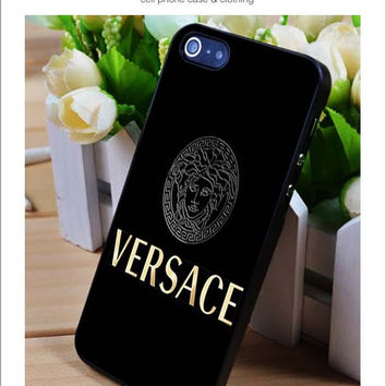 Versace black iPhone for 4 5 5c 6 Plus Case, Samsung Galaxy for S3 S4 S5 Note 3 4 Case, iPod for 4 5 Case, HtC One for M7 M8 and Nexus Case
