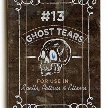Ghost Tears Wood Sign