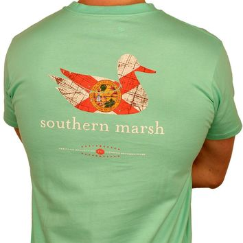 Authentic Florida Heritage Tee in Bimini Green by Southern Marsh