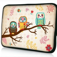 "NEW cute Owl 14.1"" 14.2"" 14.5"" 15"" 15.3"" 15.4"" 15.6"" inch Laptop Bag Case Notebook Sleeve Cover Pouch for Lenovo Idealpad Thinkpad /Dell Inspiron 1545 15 15r /Dell XPS 15z Alienware M15x /Apple Macbook Pro/ 15.5"" Sony Vaio E Series/15.6"" Hp Pavilion/asus/a"