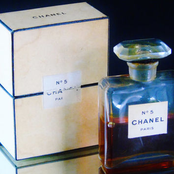 Pure Perfume Chanel No 5 Paris Extrait TPM No 200 France Vintage 1924- 1950 Formula