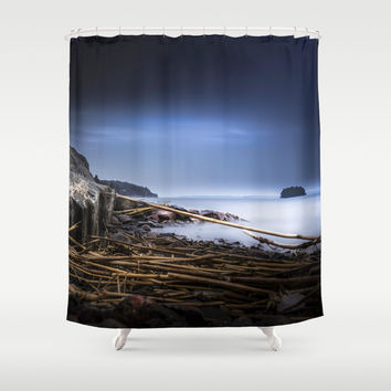 Hard Rock Shower Curtain by HappyMelvin