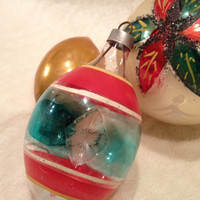 Three Vintage Christmas Ornaments WWII 40s