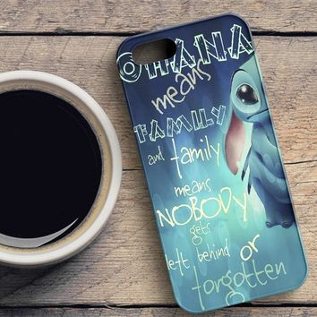 Ohana Means Family iPhone SE Case