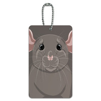 Rat Dumbo Fancy Gray - Pet Mouse ID Card Luggage Tag