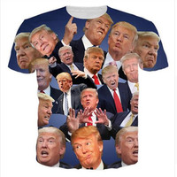 Funny Donald Trump T-Shirt USA presidential election Campaign Vote Republican candidate Tops Tees Men Women t shirt
