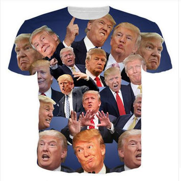 2017 POTUS45 Trump 3D Slim Fit Jersey T Shirts S-5XL