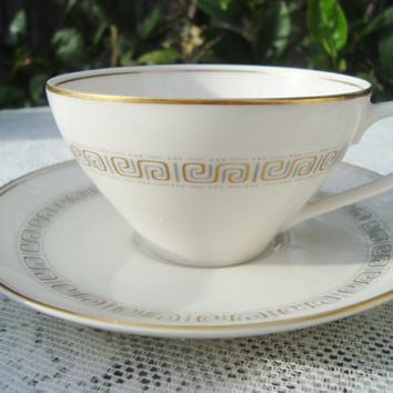 Noritake Ivory China Teacups #7526 Glorianna Set of Tea Party Chai Party