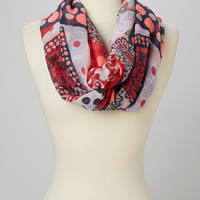 Red & White Dot Print Infinity Scarf | zulily