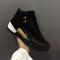 Nike Air Jordan 12 Retro Men Women Basketball Shoes Black