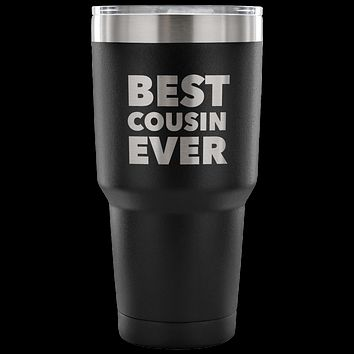 Gifts for Cousin Tumbler Best Cousin Ever Funny Double Wall Vacuum Insulated Hot & Cold Travel Cup 30oz BPA Free