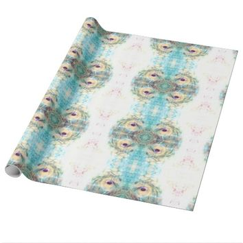 Pastel peacock wrapping paper
