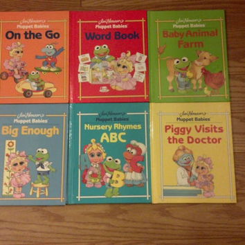 Jim Henson Muppet Babies Lot of 6 books Kermit Miss Piggy Fozzie