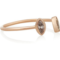 Dezso by Sara Beltràn - 18-karat rose gold diamond phalanx ring