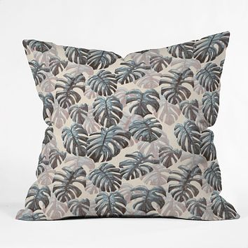 Dash and Ash Palm Springs Blues Outdoor Throw Pillow