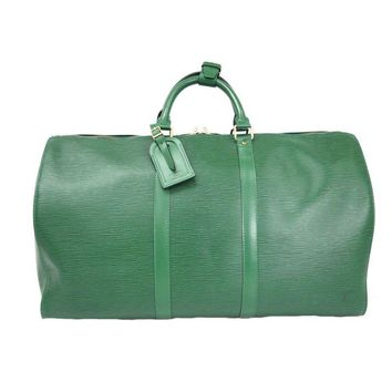 Pre-owned Louis Vuitton Green Keepall 50 Boston Bag