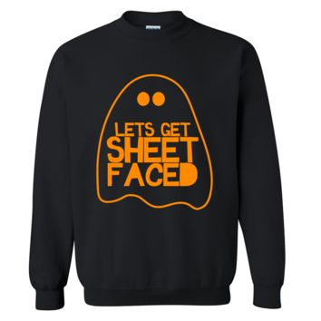 Lets Get Sheet Faced Halloween Sweater