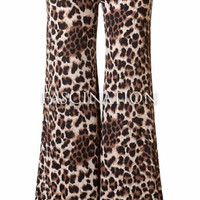 Wild Things Palazzo Pants - Brown Leopard