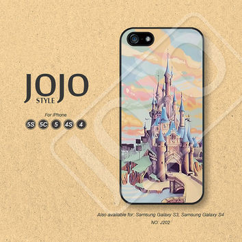 Disney Castle iPhone 5 Case iPhone 5c Case iPhone 4 Case iPhone 5s Case iPhone 4s Case Phone Covers Phone Cases - J202