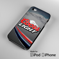 coors light beer logo iPhone 4 4S 5 5S 5C 6, iPod Touch 4 5 Cases