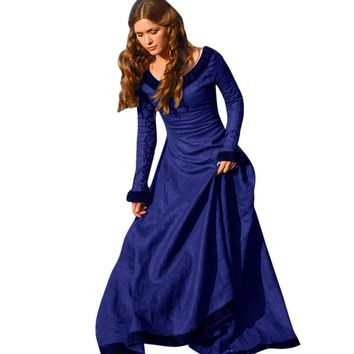 Medieval Gothic Dress Cosplay Costume Renaissance Party Dresses
