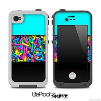 Copy of Three-Toned Turquoise Neon Sprinkles Skin for the iPhone 5 or 4/4s LifeProof Case