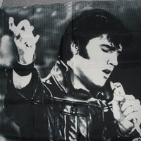 Elvis Presley flag (24 x 40 inches) in his Leather Outfit