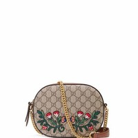 Gucci GG Supreme Embroidered Mini Chain Bag, Multi