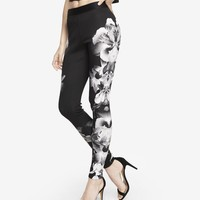 PLACED FLORAL DOUBLE KNIT LEGGING