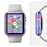 The Bright-Colored Knit Pattern Full-Body Skin Set for the Apple Watch