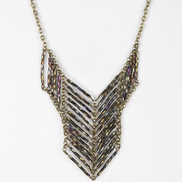 Beaded Ladder Bib Necklace - Urban Outfitters