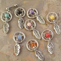 Tragus Cartliage Ear Piercing Dream Catcher Charm from MidnightsMojo
