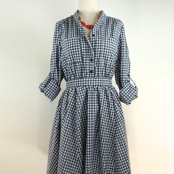 Freeway Plaid Shirt Dress