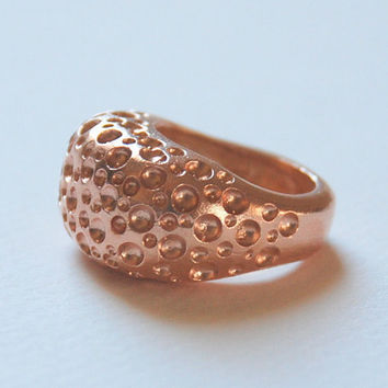 Pink Rose Gold Plated Sterling Silver Ring